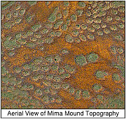 Aerial View of Mima Mound Topography