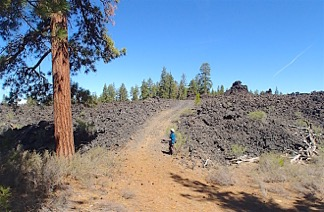 Road into Sugarpine Lava Flow