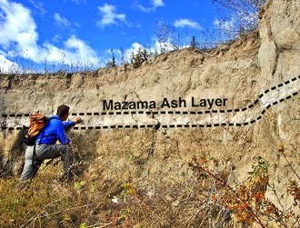 Photo of Mt. Mazama Ash Layer