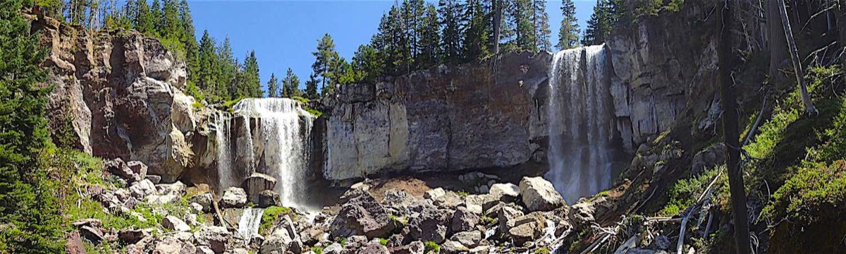 Panoramic Photo of Paulina Falls