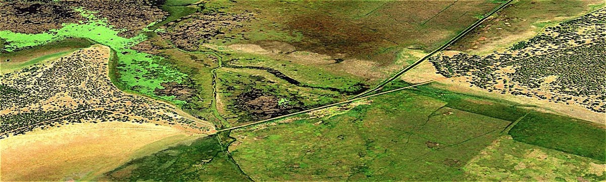 Aerial View of Klamath Marsh Narrows